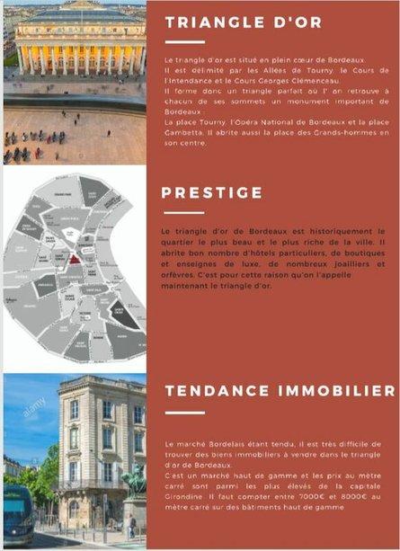 Bordeaux et ses principaux quartiers - LE TRIANGLE D OR