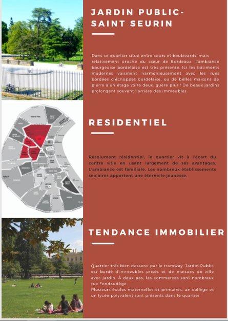 Bordeaux et ses principaux quartiers - Cette semaine JARDIN PUBLIC / SAINT SEURIN